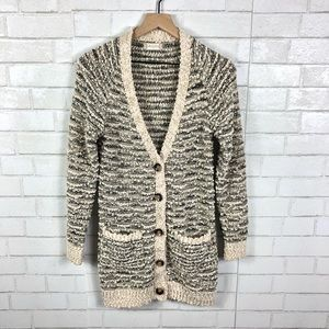 Altar'd State Fuzzy, Marled Long Cardigan